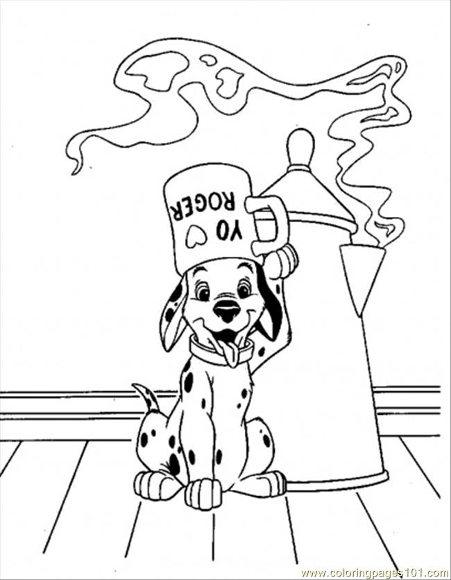 Lucky In Glass Coloring Page