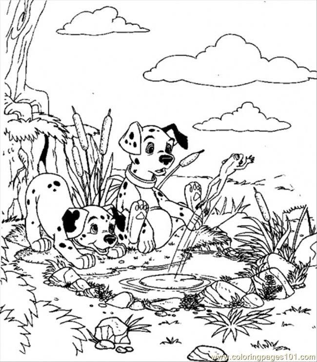 Play In The Lake Coloring Page