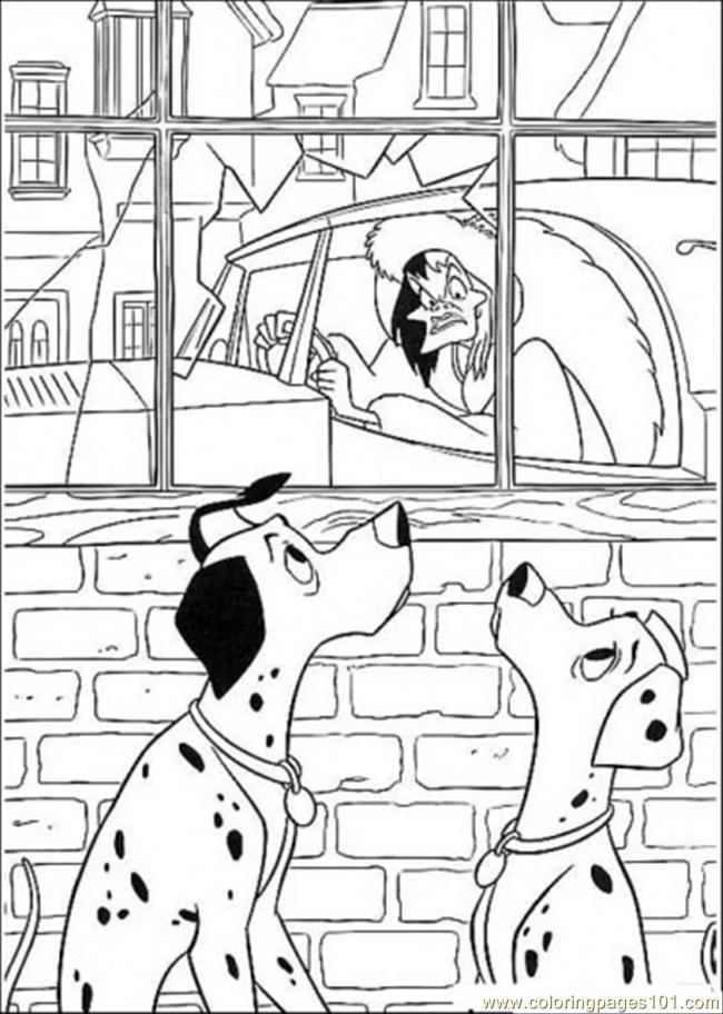 Pongo Perdita And D Evil Coloring Page
