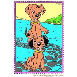 101 Dalmatians Coloring Page 02 Free Coloring Page for Kids