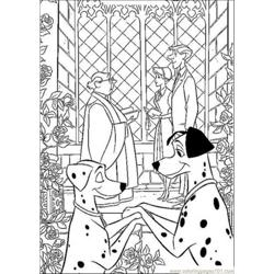Two Couples Coloring Page