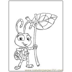 Bugs Life 6 Free Coloring Page for Kids