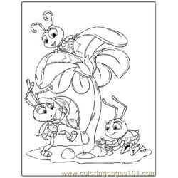 Bugs Life 7 Free Coloring Page for Kids