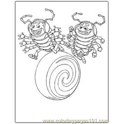 Bugs Life 9 Free Coloring Page for Kids