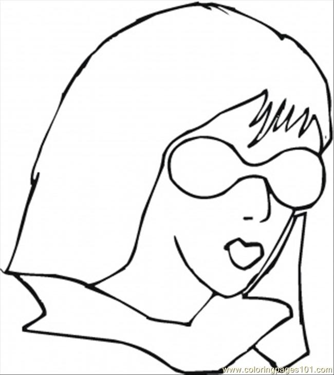 Girl Is Wearing Sunglasses Coloring Page Free Accessories