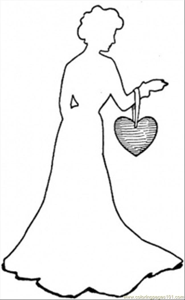 Heart Purse Coloring Page