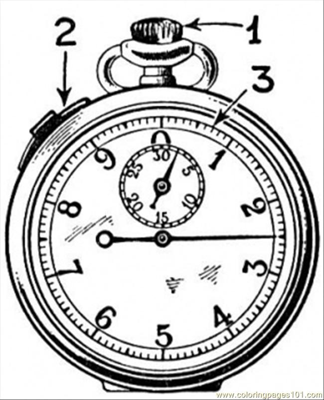 Old Watch Coloring Page