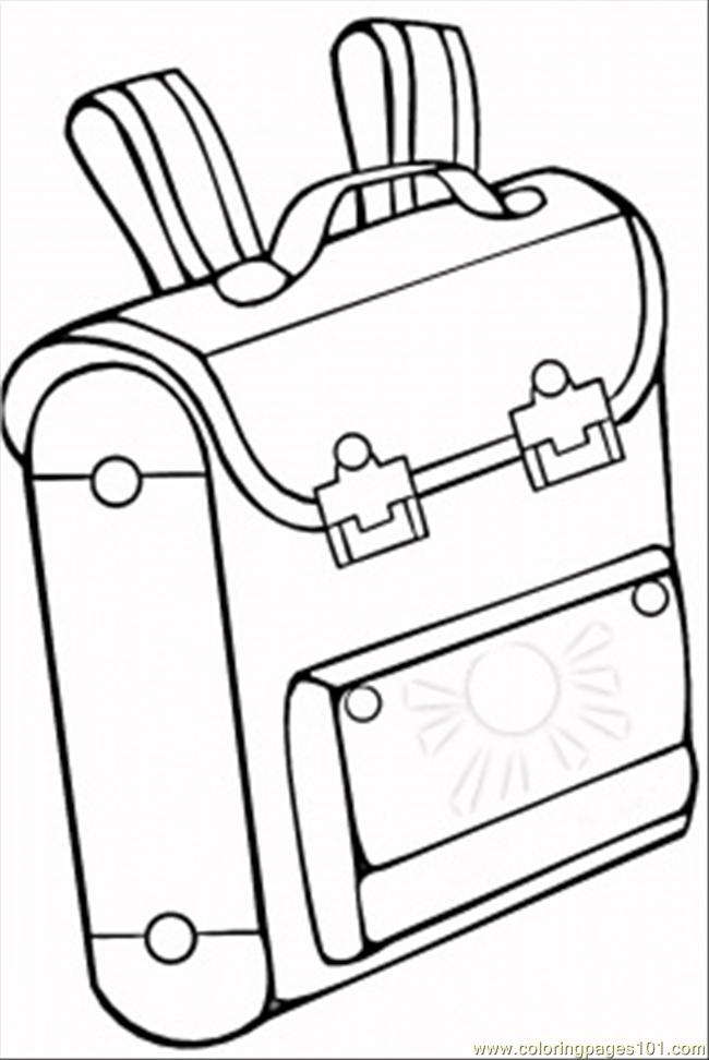 School Bag Coloring Page Free Accessories Coloring Pages
