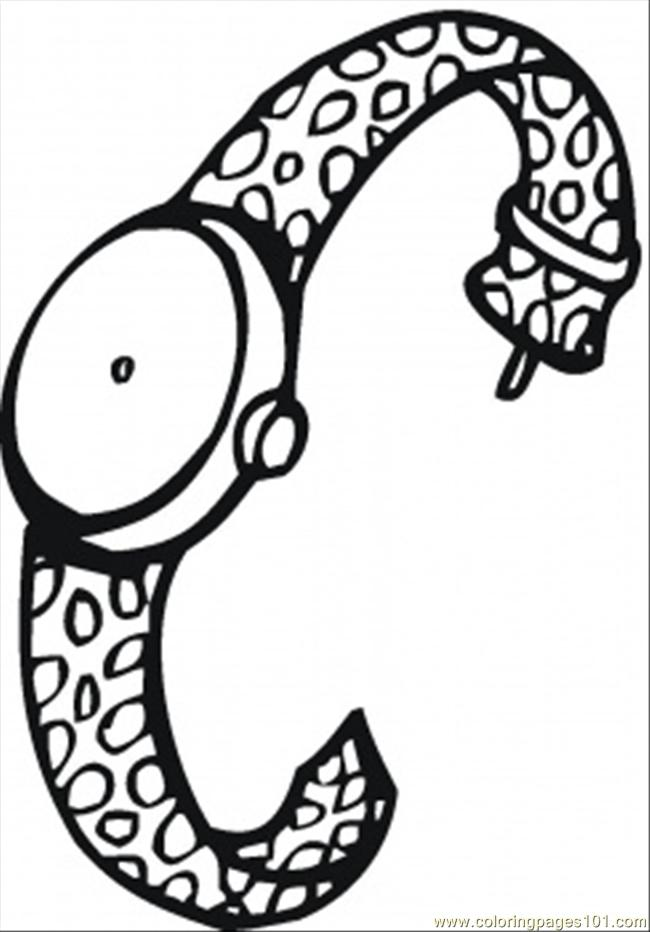 Watch For Women Coloring Page