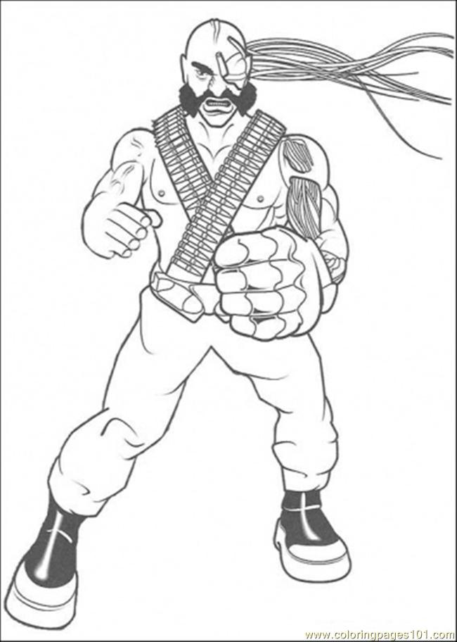 The Man Are Ready For Figthing Coloring Page