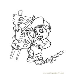 Adiboo Free Coloring Page for Kids