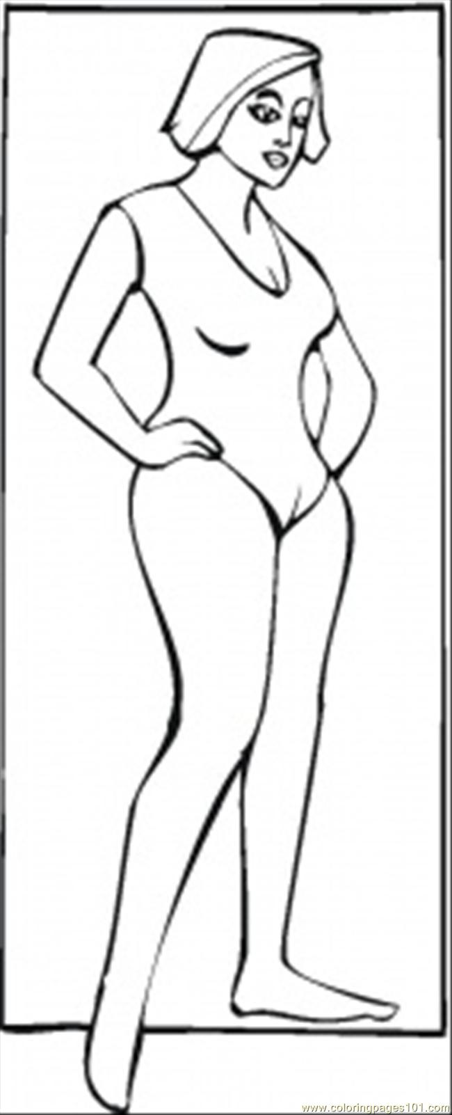 Fit Lady Coloring Page