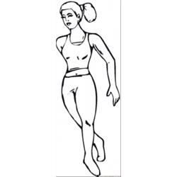 Dancing Girl coloring page