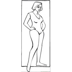 Fit Lady Free Coloring Page for Kids