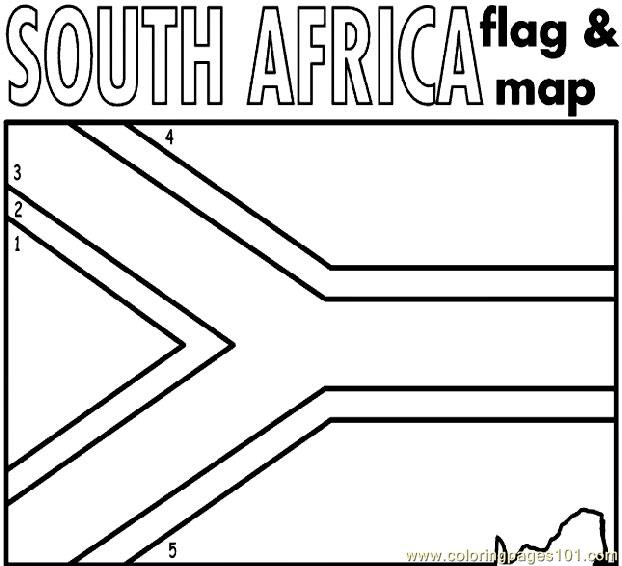 South africa Coloring Page Free