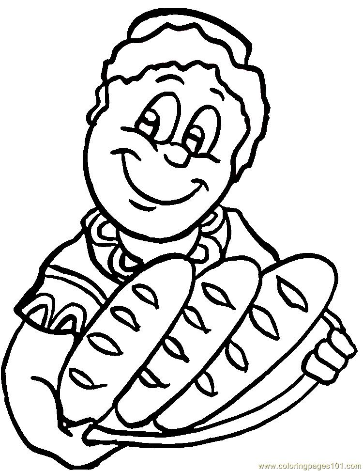 Fresh african bread Coloring Page