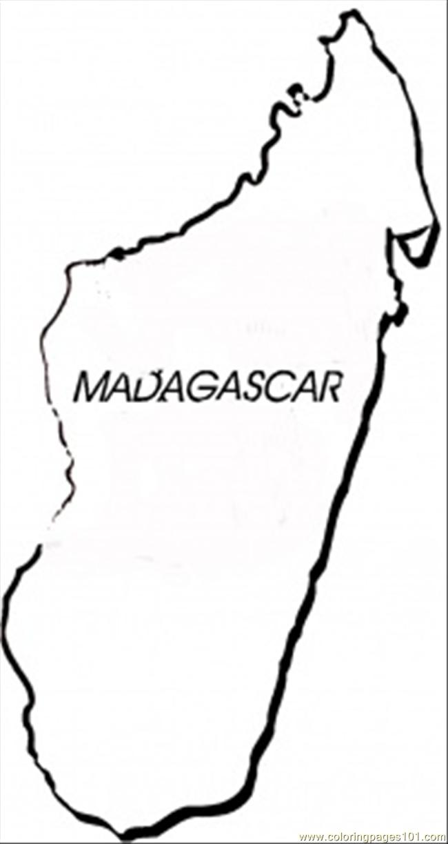 Madagascar coloring page free africa coloring pages for Madagascar coloring pages printable