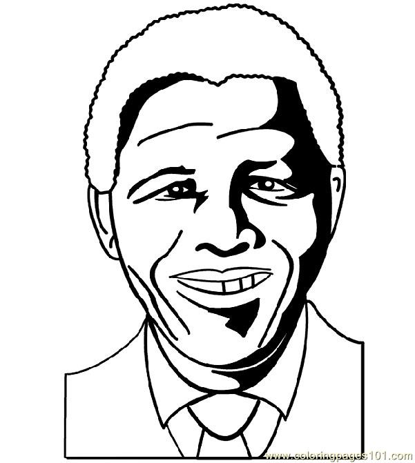 President of south africa Coloring Page