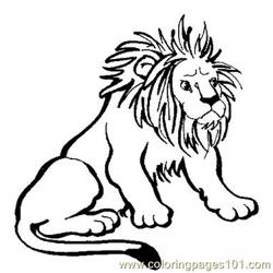 Africa Safari Lion Free Coloring Page for Kids