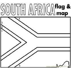 South africa Free Coloring Page for Kids