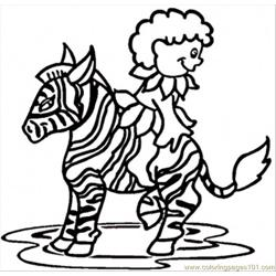Boy On Zebra