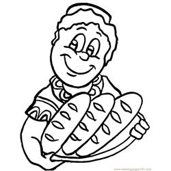 Fresh african bread Free Coloring Page for Kids