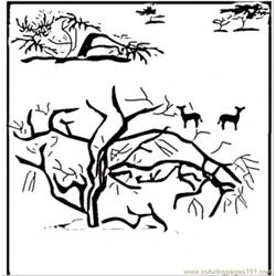 Savanna coloring page