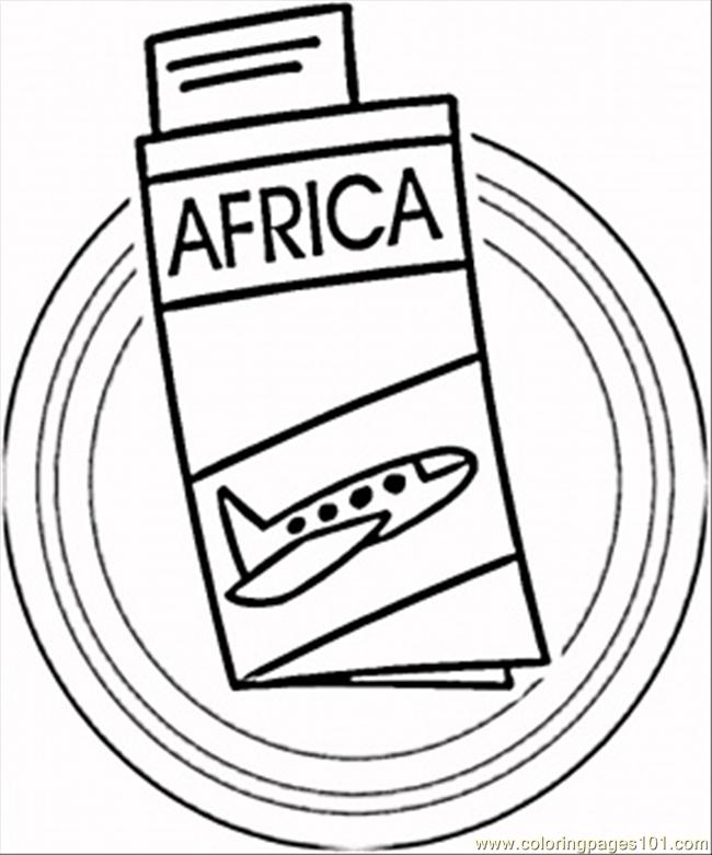 Trip To Africa Coloring Page