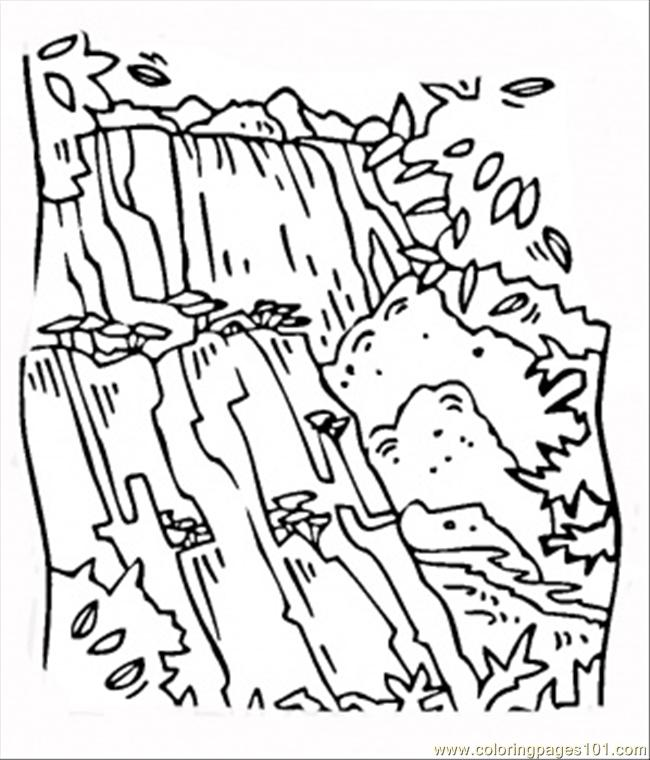 waterfall victoria coloring page - Coloring Page Waterfall