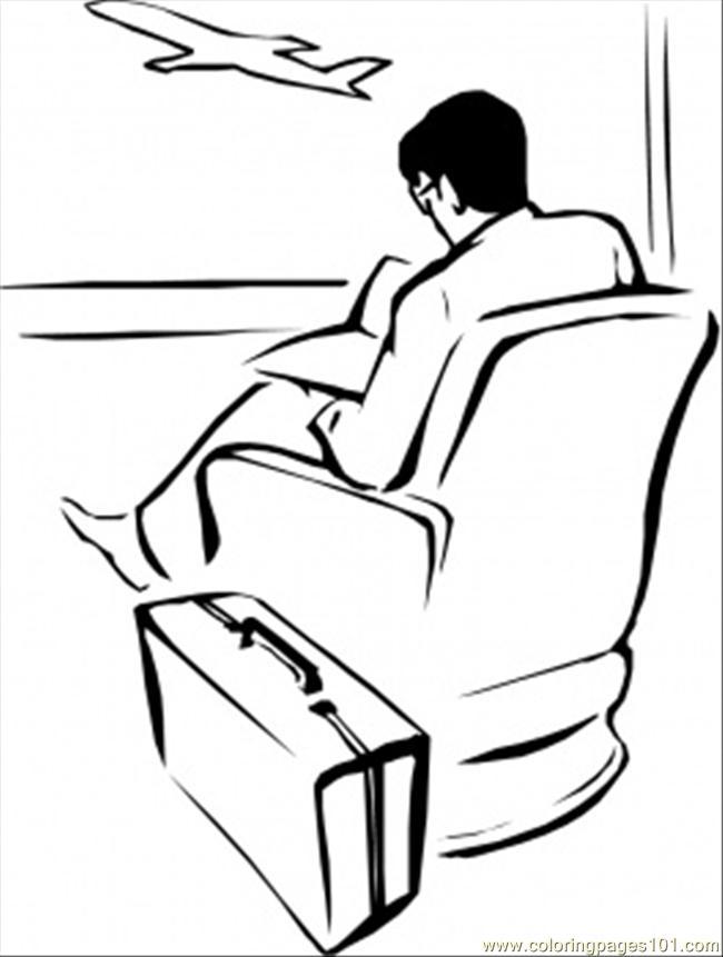 Waiting For The Plan Coloring Page
