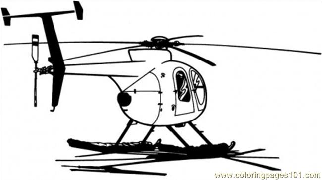 Civil Helicopter Coloring Page