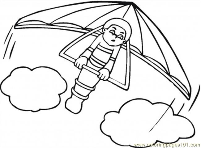 Hang Glider Coloring Page - Free Air Transport Coloring Pages ...