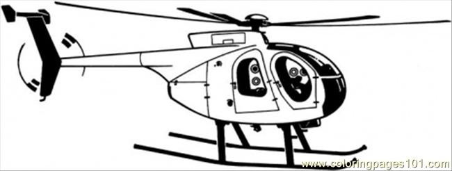 Helicopter Is Flying Coloring Page