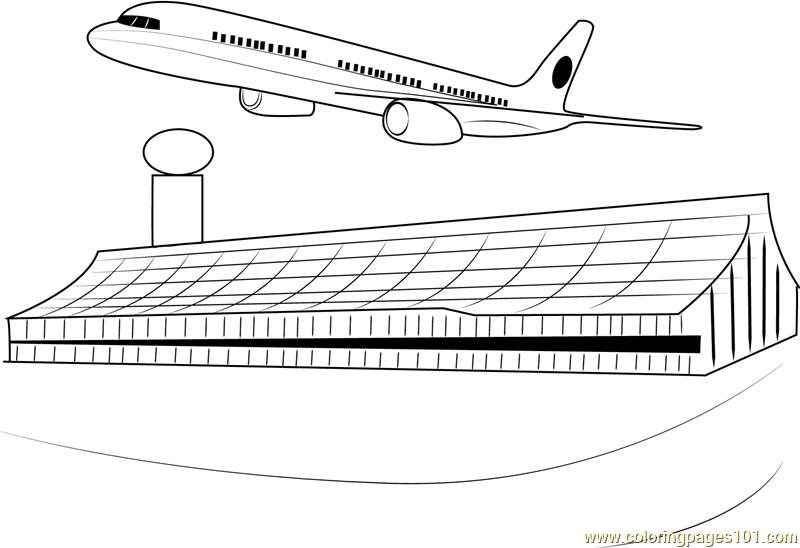 airport maps coloring pages | Airports in London Coloring Page - Free Airport Coloring ...