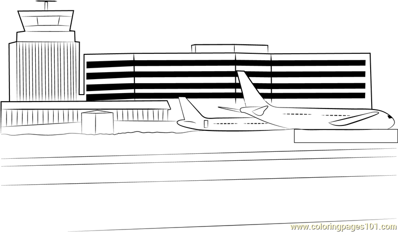 Delhi Airport Coloring Page Free Airport Coloring Pages