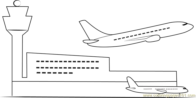 airport maps coloring pages | Indian Airport Coloring Page - Free Airport Coloring Pages ...
