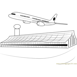 Airports in London coloring page