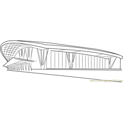 American Airport coloring page