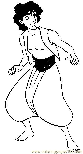 Aladdin 4 Coloring Page Free Aladdin Coloring Pages