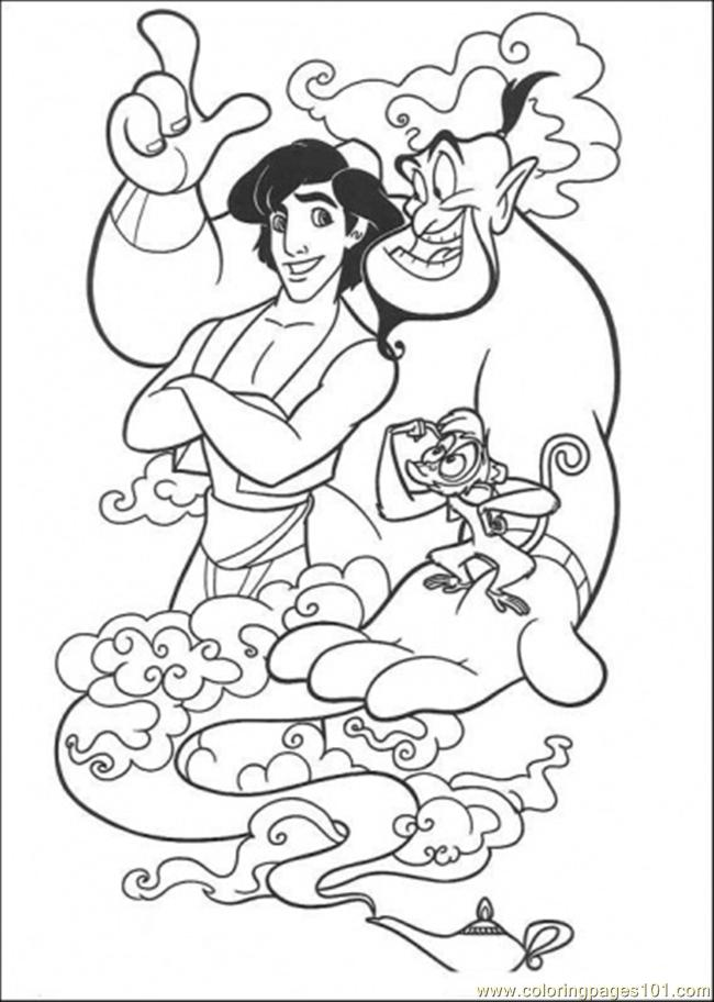 Addin Genie Abu Coloring Page Coloring Page