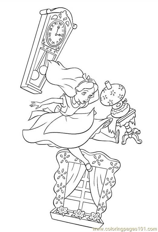 Alice In Wonderland 1 Coloring Page Free Alice in Wonderland