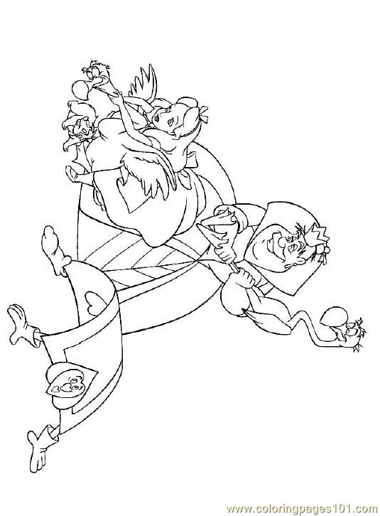 Alice In Wonderland 2 Coloring Page Free Alice in Wonderland