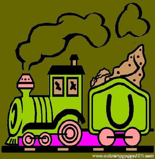 Alphabeth Trains Coloring Page 21 Coloring Page