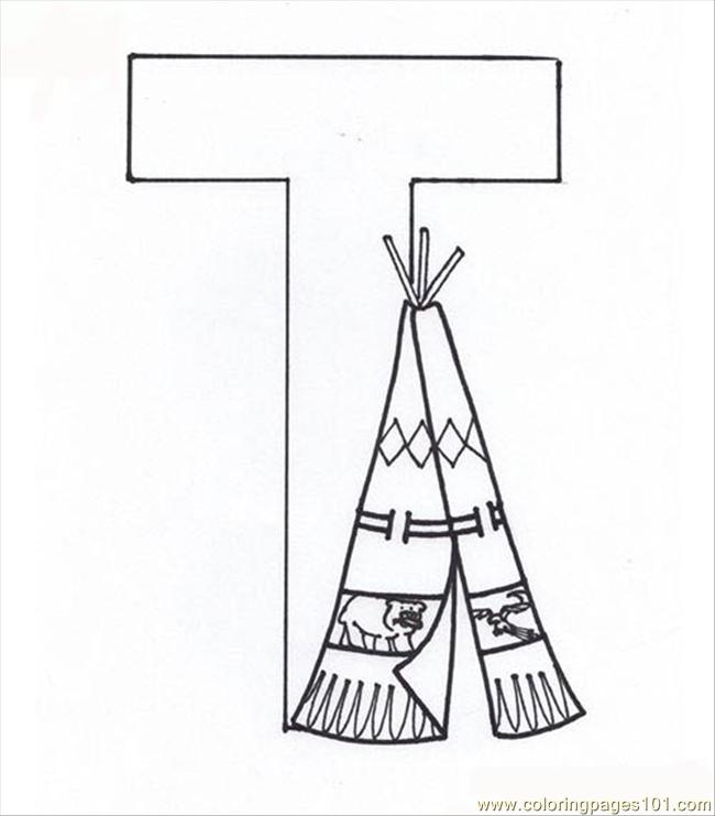 letter t coloring page coloring page