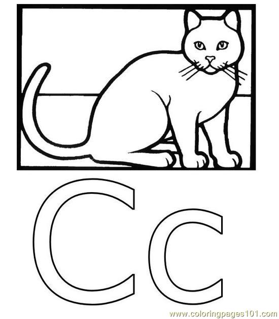 Pic C Coloring Page