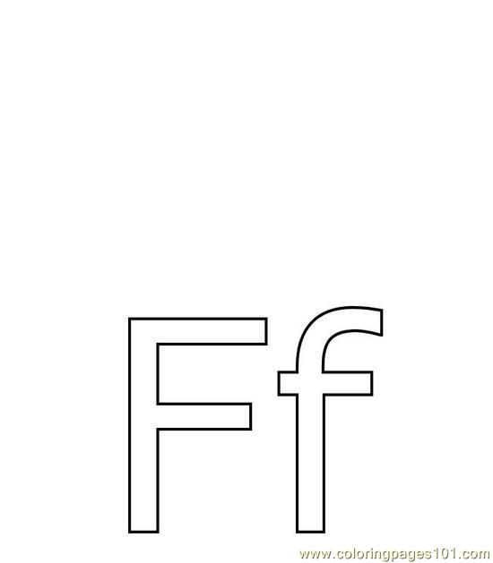 Pic F Coloring Page
