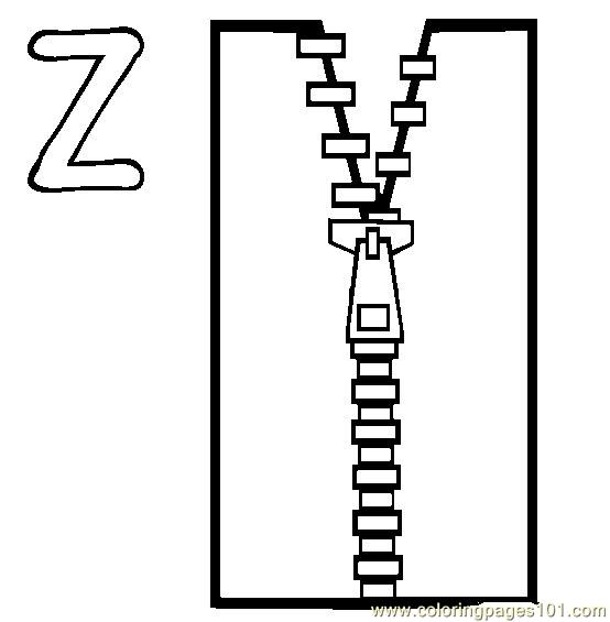 zipping coloring pages - photo#1