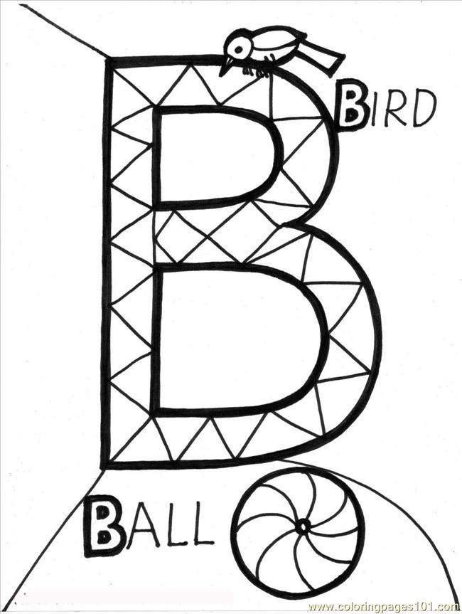 Alphabet%2bb Coloring Page