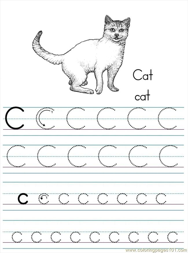 Alphabet Abc Letter C Cat Coloring Pages 7 Com Coloring Page For Kids Free Alphabets Printable Coloring Pages Online For Kids Coloringpages101 Com Coloring Pages For Kids