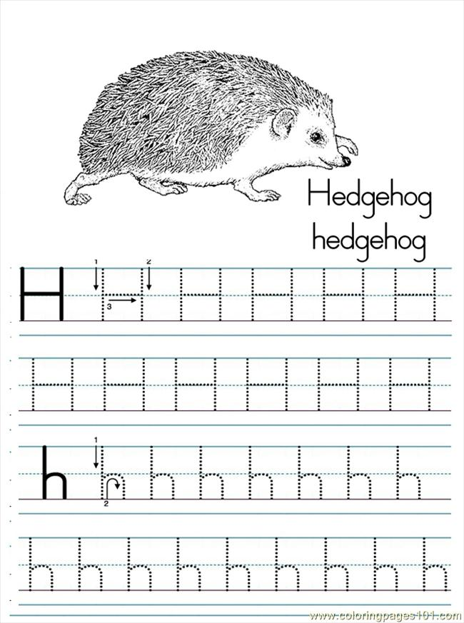 Coloring Pages For Letter H  Printable Coloring Pages